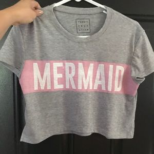 Tops - Mermaid crop top